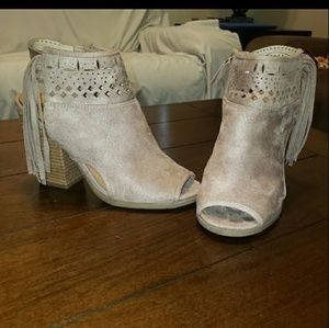NOT RATED tassel booties 7.5